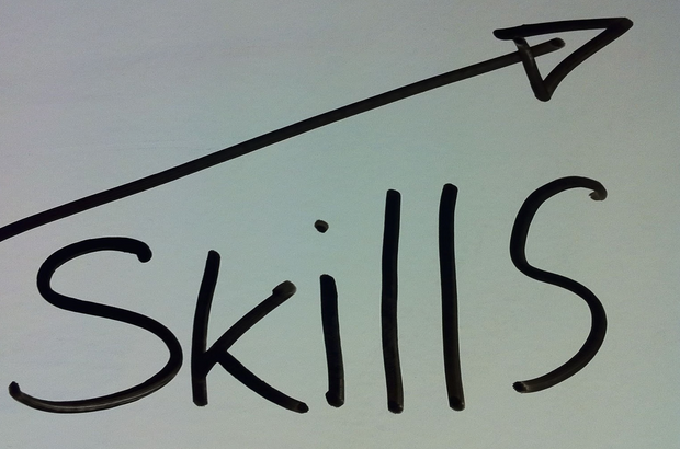 "Writing on a paper saying ""Skills"""