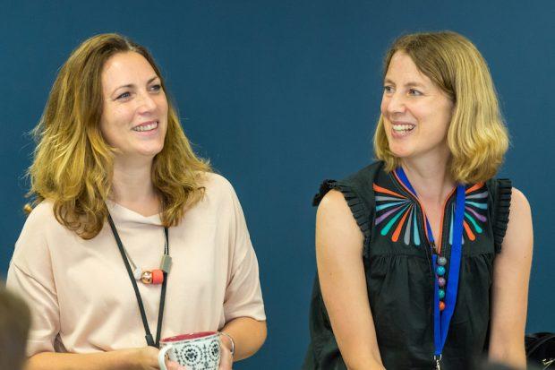 GDS Directors Hazel Hobbs and Emily Ackroyd in a meeting