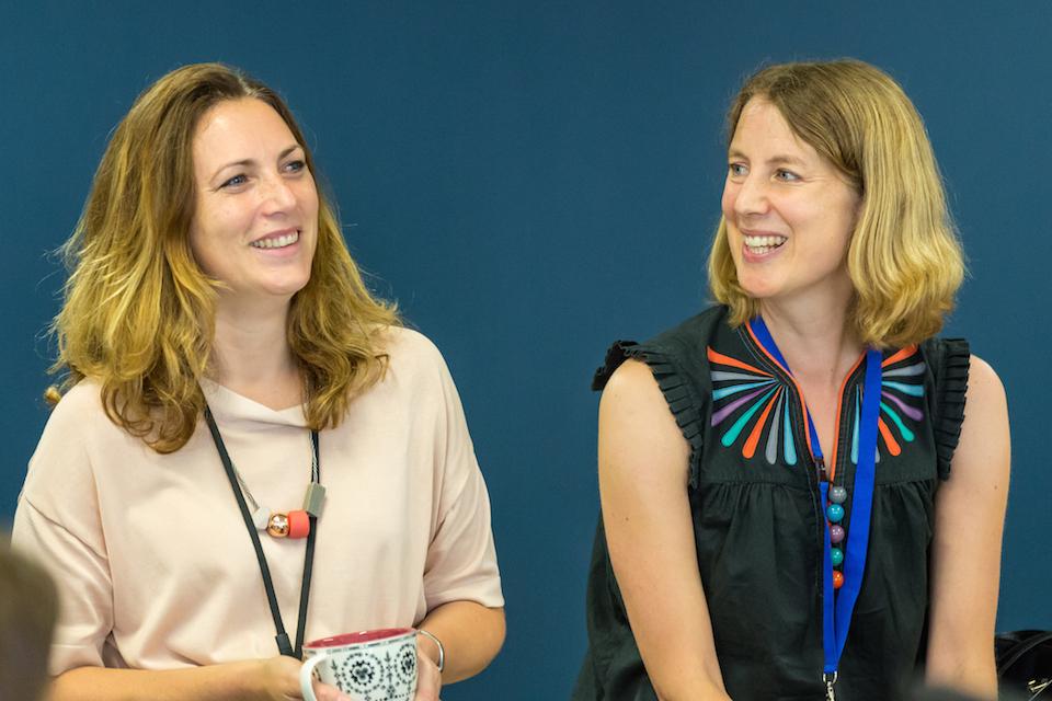 GDS Directors Hazel Hobbs Emily Ackroyd in a meeting