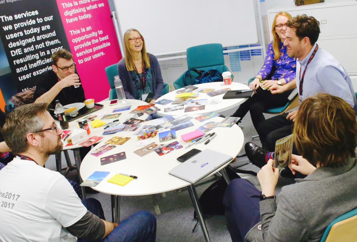 Group meeting at DfE Digital