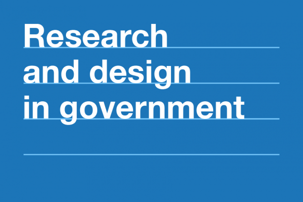 """Poster of """"Research and design in government"""" course at the GDS Academy"""