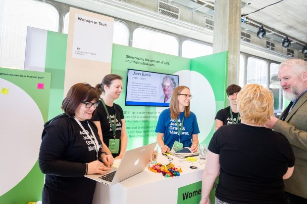 "Women in ""digital, data and technology"" stand at Sprint 18"