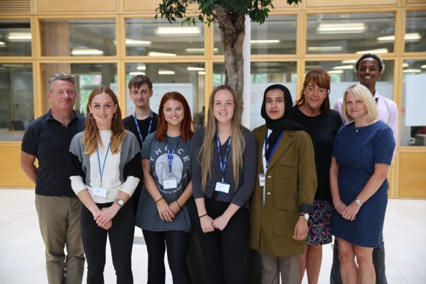 Interns with the GDS Academy team and Kevin Cunnington, GDS Director General