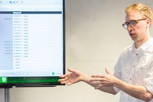 Martin Jones giving a presentation