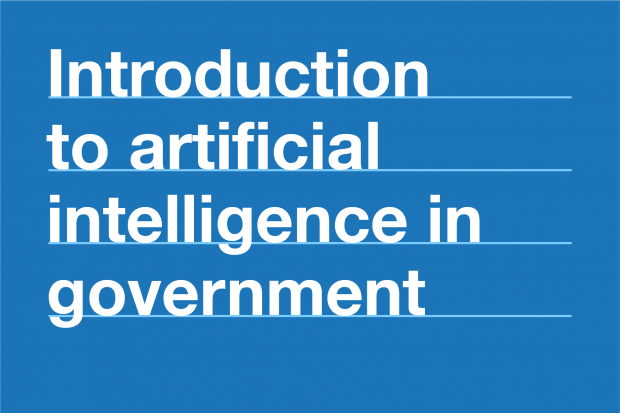 introduction to artificial intelligence in government.